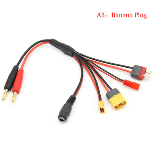 Details about  /Banana Plug to XT60 XT30 DC5.5 T Plug Charger Adapter Cable for IMAX B6 ISDTJCA