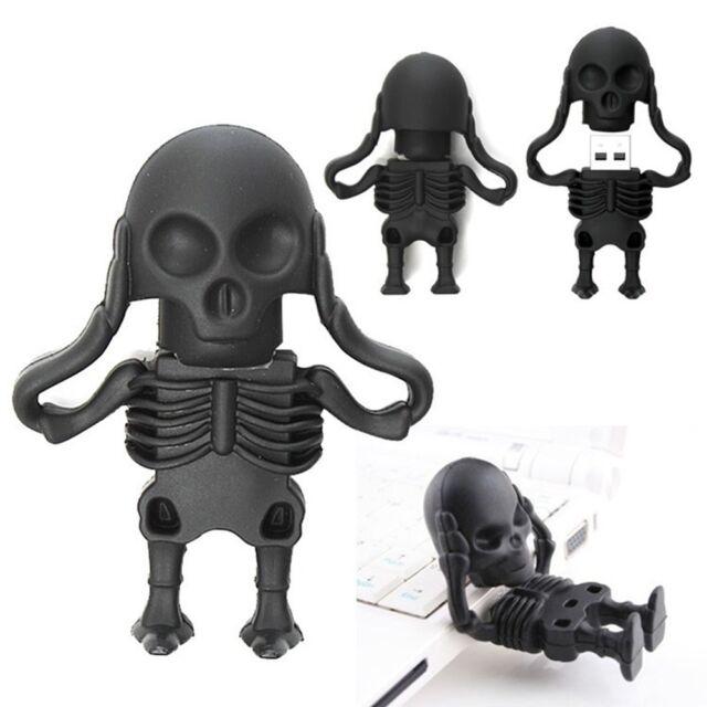 Cool Skeleton model USB 2.0 Memory Stick Flash pen Drive 4GB 8GB 16GB 32GB HP84