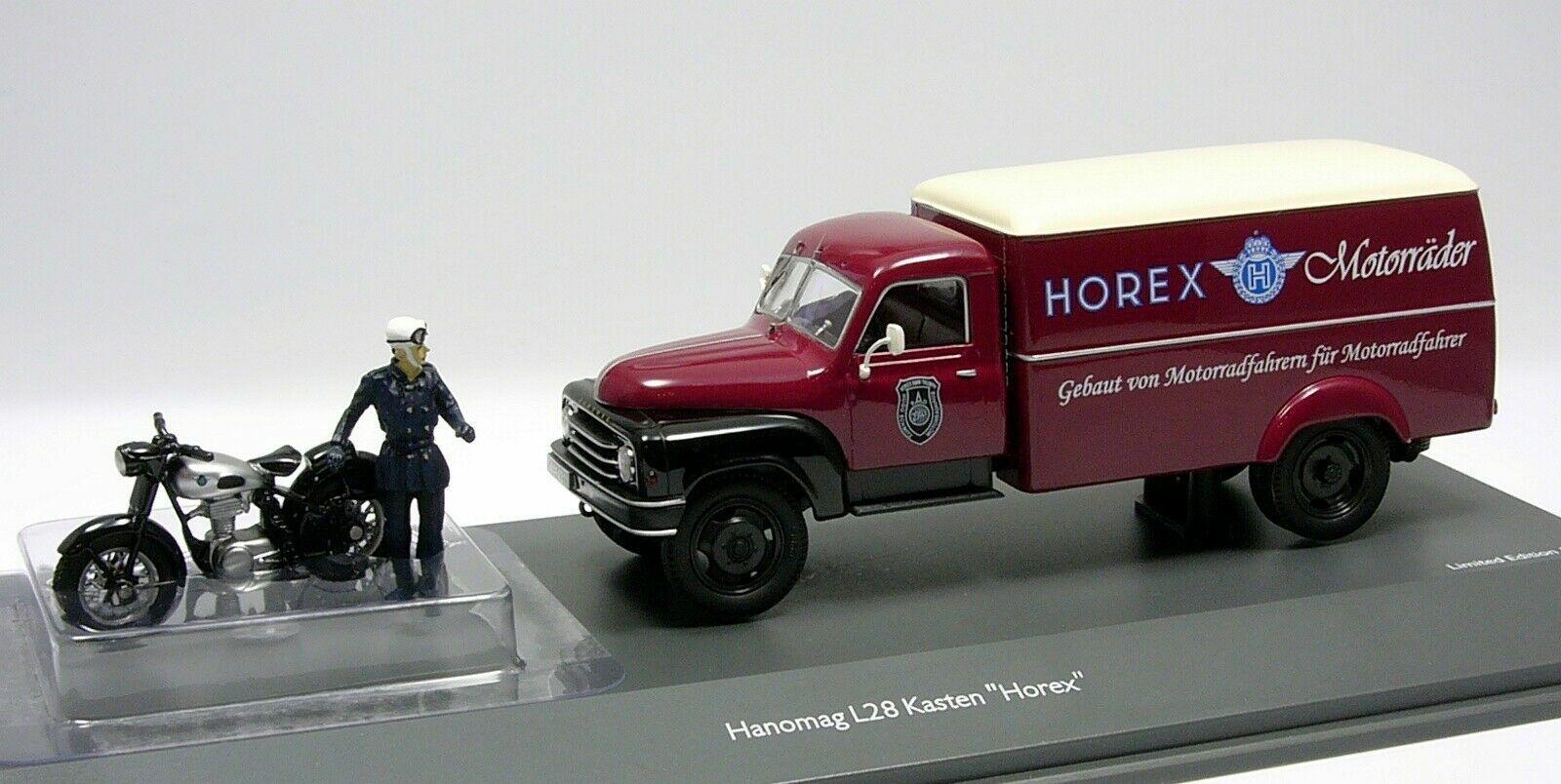 Schuco 1 43 Hanomag L28 Horex with Horex Regina and driver 450293900