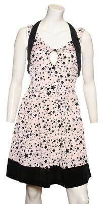 Venta Damas Vestido Rosa con patrón de estrella negro por ex Chain Store ahora £ 7.49