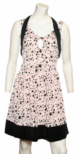 SALE Ladies pink dress with black star pattern by Ex Chain Store NOW £7.49