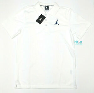 7b529fed520 Nike Air Jordan Jumpman Golf Polo Mens White Black Team Dri-Fit ...