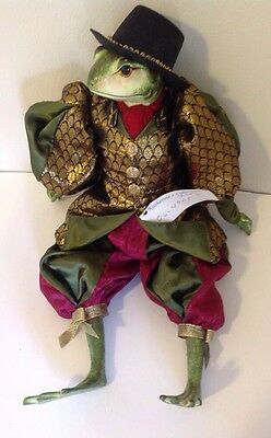 "Katherine's Collection Wayne Kleski Retired 21"" Frog Toad Doll"
