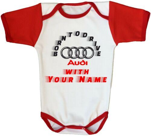 Audi Logo Baby Bodysuit Personalized Red Newborn Car One Piece Infant Clothing