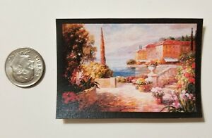 Miniature Dollhouse 1//12 Scale poster Pictures Wall Art  Kitchen Italy Ocean