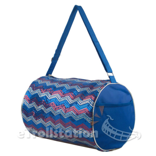 Kid/'s Girls Dance ChevronWave Sequin Duffle Bag Gymnastics Cheer Colors Option