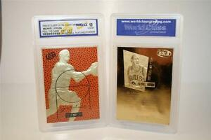 MICHAEL-JORDAN-1996-97-Fleer-COURT-MASTERS-Feel-Game-23KT-Gold-Card-GEM-MINT-10