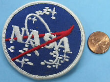"NASA vector logo PATCH vtg White Border Almost 3""! Apollo Mercury Gemini Skylab"