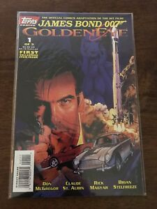 James-Bond-007-Golden-Eye-1-Comic-Book-January-1996-Topps-Comics-FREE-bag-board