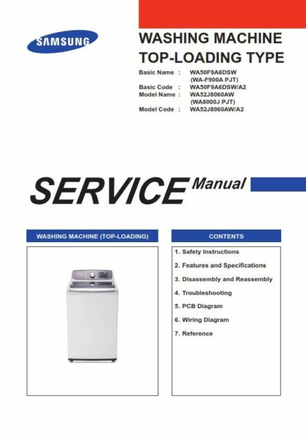 samsung wa50f9a6dsw white washing machine ebay samsung washing machine control panel samsung wa50f9a6dsw a2 washer service manual and repair guide