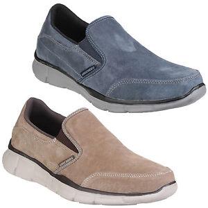Dettagli su Da Uomo Skechers Status Borges Foam tela Memory Relaxed Fit Shoes Scarpe da ginnastica UK6 12 mostra il titolo originale
