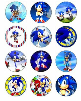 Sonic The Hedgehog 12 Edible Icing Image Birthday Cake Topper