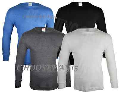 Full Men Thermal Winter Underwear Long Sleeve Vest Top Cotton Blend (all Size)