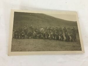 Details About Group Of Men With Guns In Field Postcard 1900 S Aiming Ready To Shoot Hunting