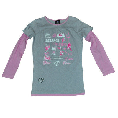 Weitere Ballsportarten Logisch Nfl Miami Dolphins Reebok Für Mädchen Jersey T-shirt Dk3142 Langarm-shirt