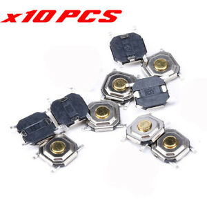 10 X SMD Gold Microswitch Tactile Push Button Switch 4x4x1.5mm Tact Switch Diy
