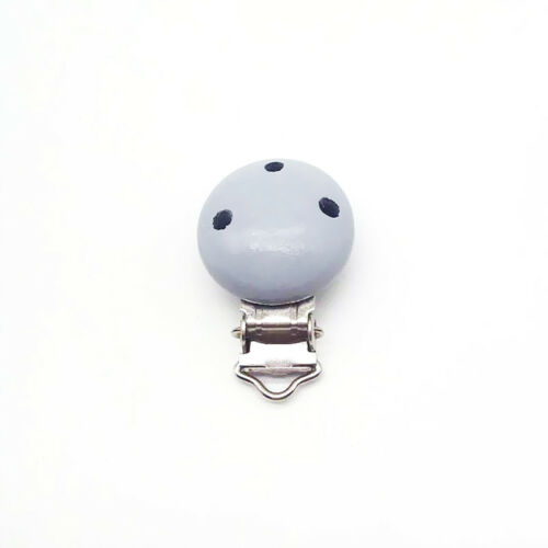 Dummy Nipple Pacifier Holder Wooden Soother Suspender Clips Baby Infant Colorful