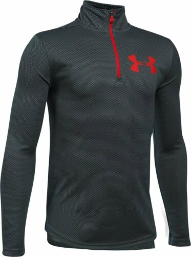 Under Armour 1//4 zip pullover shirt NWT UPICK boys/' S M XL gray red black $35