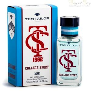 Details about Tom Tailor College Sport Edt Eau de Toilette Spray for Men 30ml 1fl.oz