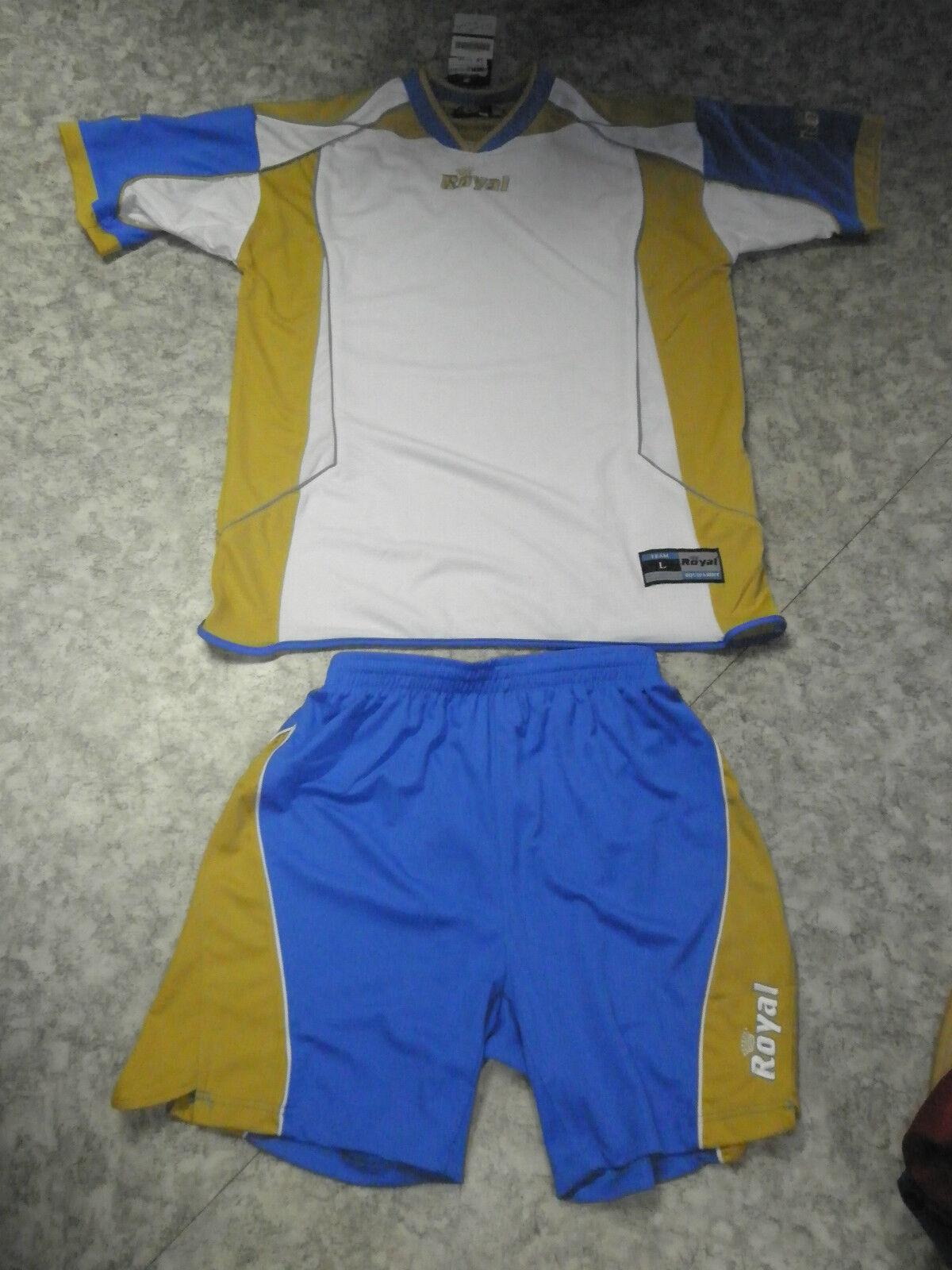 AKTION   14 Trikotsätze  ACTIVE  von  Royal Sport Trikot + Hose,weiß azur L,XL  | Haltbarkeit