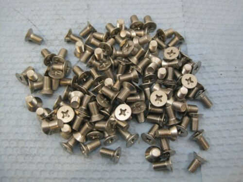 """Stainless Machine Head Bolt Phillips 1//4-28 x 1//2/"""" 1//4/"""" 6092 Lot 100 28"""