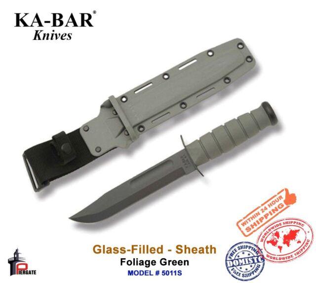 "Ka-Bar Glass-Filled Nylon Knife Sheath Foliage Green Fits 7"" Blade 5011S"
