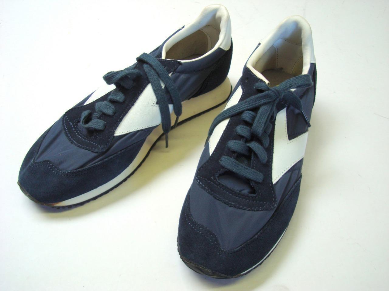 newest ca7e4 f561c Vintage Mens Brooks Athletic schuhe schuhe schuhe sz 7.5 Navy Blau  Weiß -  unworn - no box 00b6a2