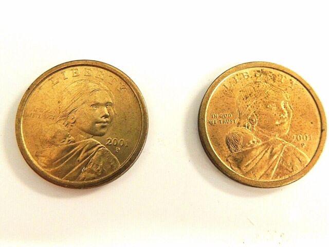"USA SACAGAWEA NATIVE AMERICAN 1 DOLLAR 2001 /""P/"" COIN UNC"