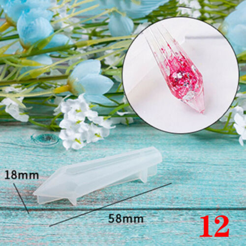 Crystal Silicone Mold Resin Jewelry Making Mould Epoxy Necklace Pendant DIY Mold