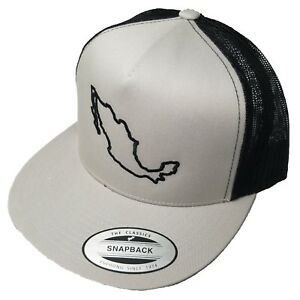 b9d2ddc6ec1520 Yupoong Mexico Outline Snapback Hat, Trucker Cap for Men and Women ...