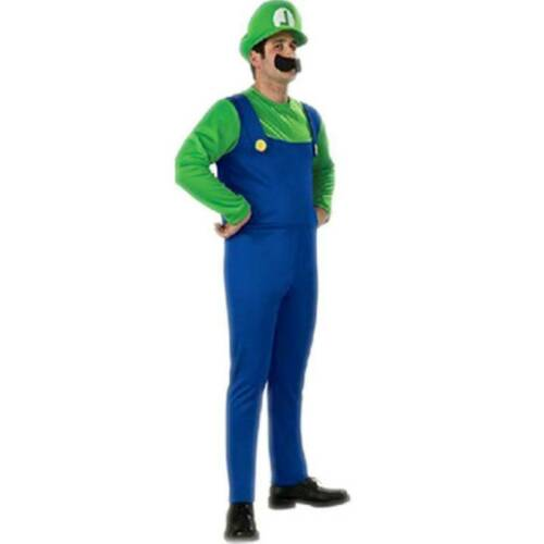 Unisex Super Mario Luigi Bros Plumber Brothers Fancy Dress Cospaly Suits Outfit