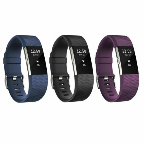 Fitbit Charge 2 Heart Rate Monitor Fitness Tracker Wristband /& All Color