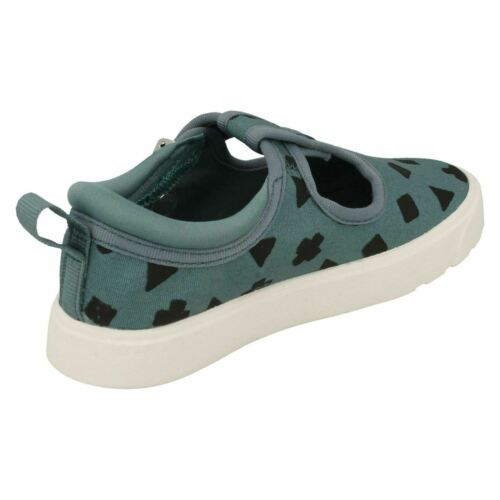 CITY SPARK TODDLER GIRLS BOYS CLARKS CLASP CASUAL T BAR CANVAS SHOES