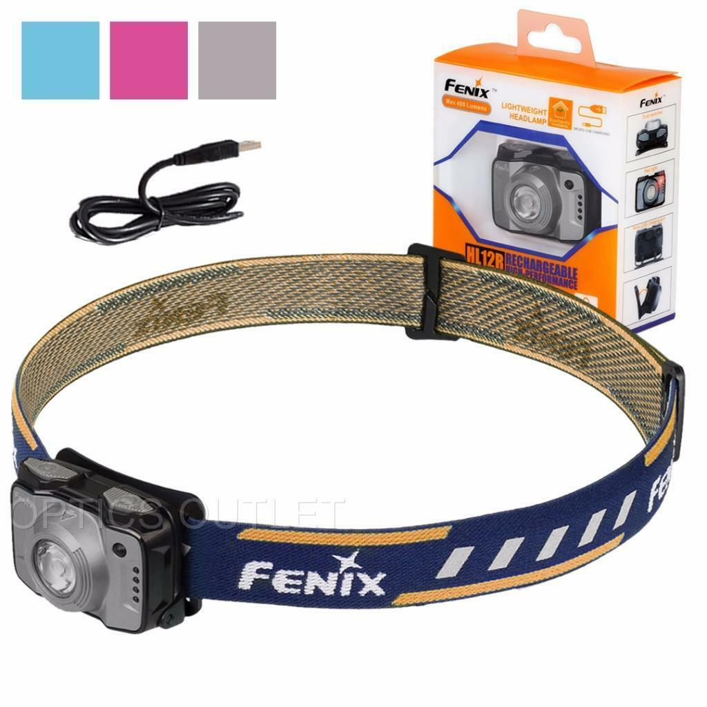 Fenix HL12R 400 Lumen Neutral White + Red LED  Rechargeable Headlamp (Grey)  new branded