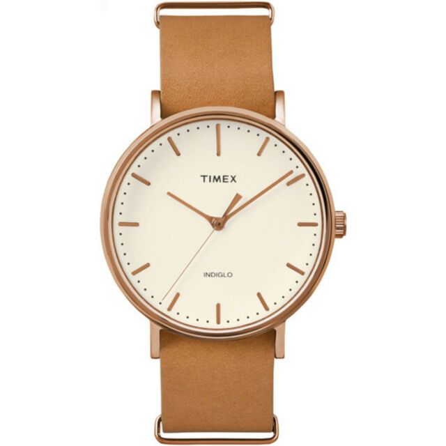 Watch Timex TW2P91200 brown leather classic copper men's fashion weekender