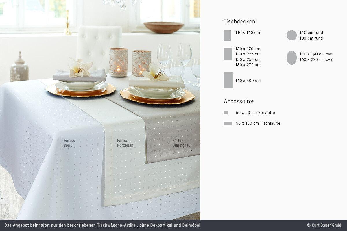 Curt Bauer damassé nappe linge de table 140 190o fonctionnent Blanc