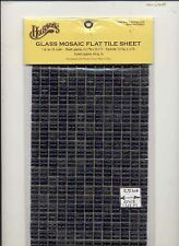 Ceramic Black Mosaic Tile Sheet miniature floor #8220 1/12 Scale  Houseworks