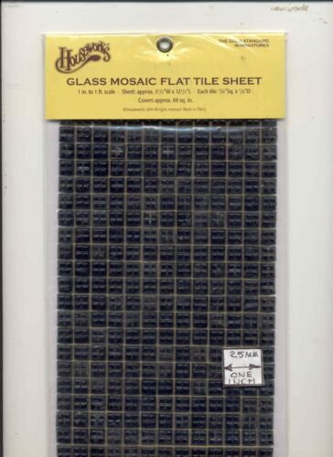 Ceramic Black Mosaic Tile Sheet miniature floor #8220 1//12 Scale  Houseworks