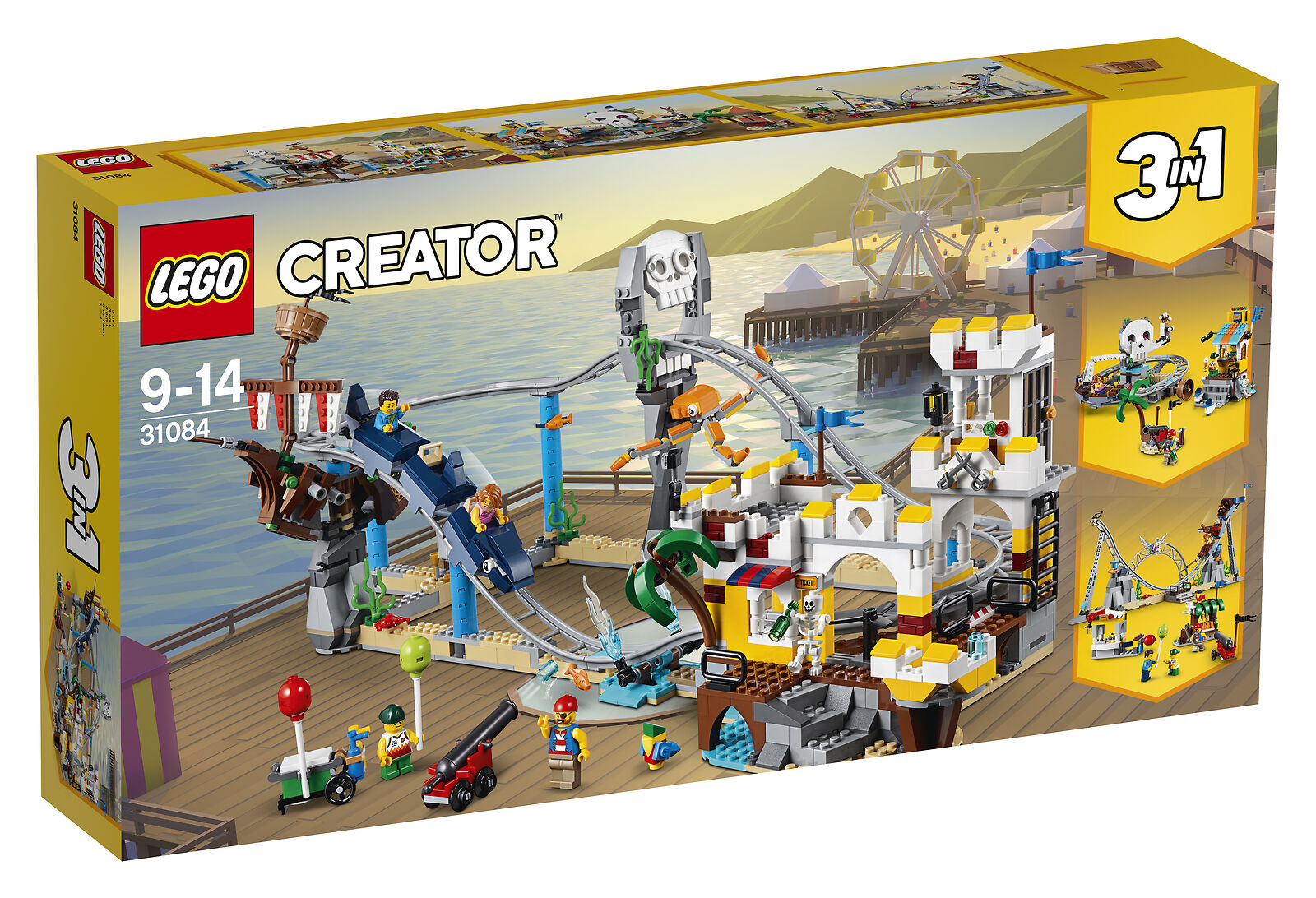 (NEW) LEGO Creator 3 in 1 Pirate Roller Coaster 31084 Building Kit (923 Piece)