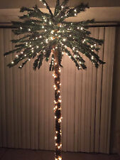 artificial 7ft palm tree with 300 white lights and 78 tips