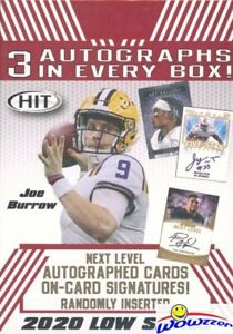 2020-Sage-Football-EXCLUSIVE-Factory-Sealed-Blaster-Box-3-AUTOGRAPHS-8-PARALLELS