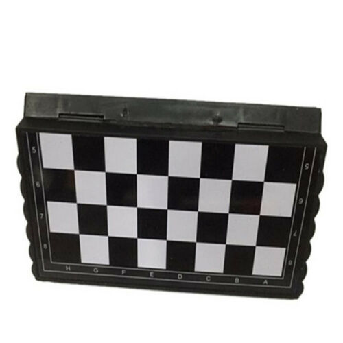 TH/_ Magnetic Folding Chess Board Set With Pieces Games Sport Camping Travel Crea