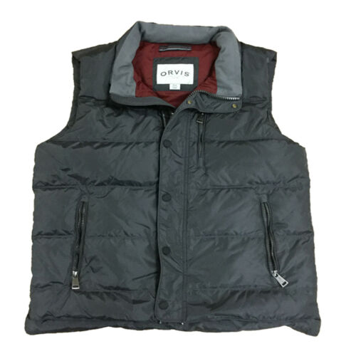 Orvis Men/'s Insulated Down Winter Full Zip Snap Button Outerwear Puffer Vest