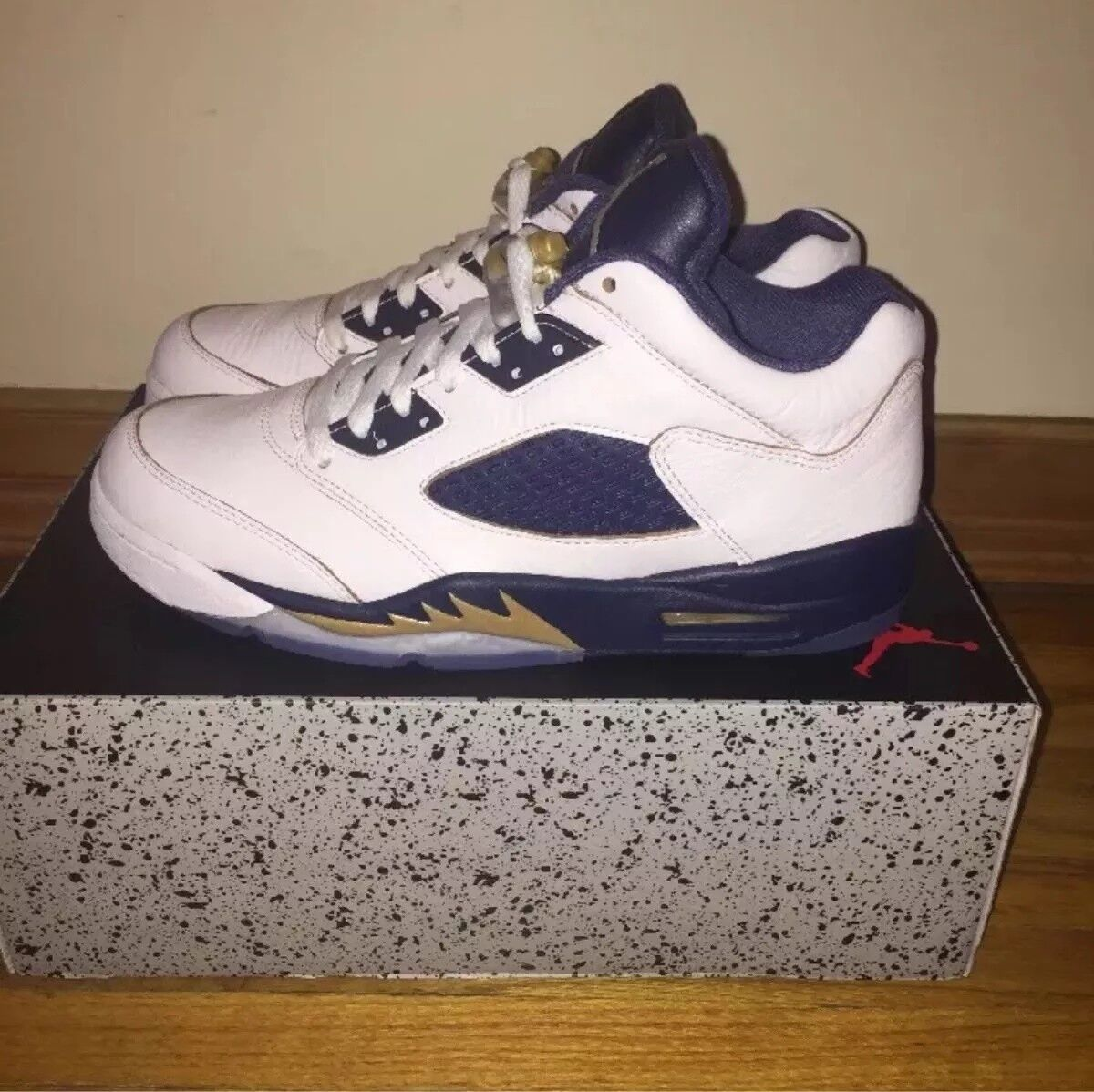 Air Jordan 5 Retro Low Dunk From Above Navy Blue Yellow Michigan Gold 819171 135 The latest discount shoes for men and women