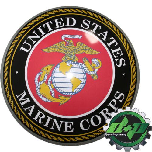 """15/"""" Cúpula Em Metal De Estanho sinal United States Marine Corps círculo Logotipo Decoração De Parede Nova"""