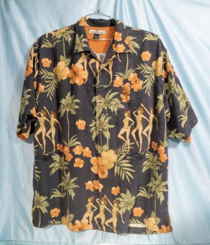 Tommy Hawaiian Multicolor Aantrekkelijk L Silk Floral Shirt Sz Pinup Bahama XuTkZiPO