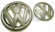 CARBON FIBRE VW GOLF MK6 09-12 FRONT & REAR BADGE SET GOLF R TDI GTD GTDI TSI