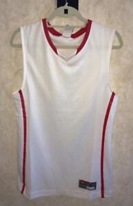 b79f5b70bf662 Image is loading NIKE-Hyper-Elite-White-Scarlet-Red-Basketball-Jersey-