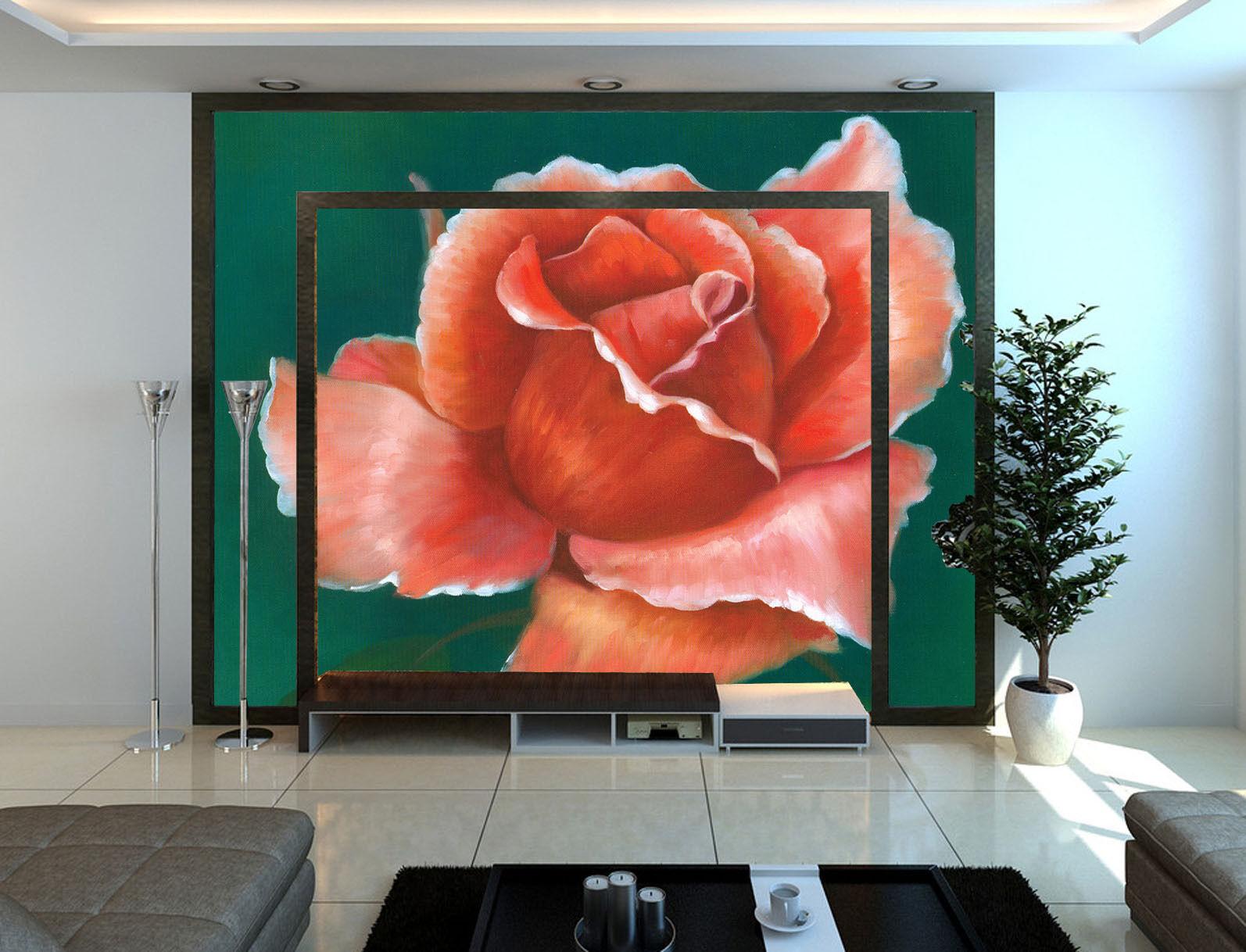 3D Die angehende Rose 6676 Fototapeten Wandbild Fototapete BildTapete Familie DE