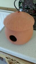art pottery bird house signed can be used as a bird house redware